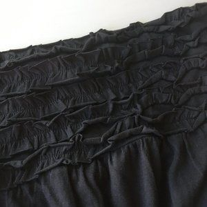 Black strapless dress with ruffle bust Xhilaration